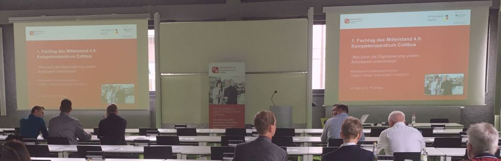 """Fachtag Mittelstand 4.0 – Kompetenzzentrum Cottbus: """"Wie kann die Digitalisierung unsere Arbeitswelt unterstützen?"""""""
